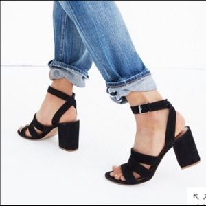 Madewell strappy heels